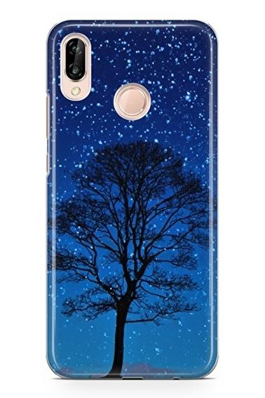 Lopard Huawei P20 Lite Kılıf Gece Ağacı Kapak Renkli